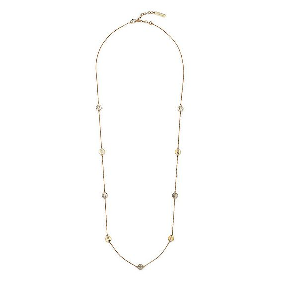 Hailey Clear Crystal Gold Necklace