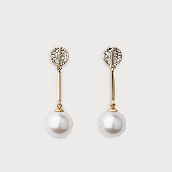Harlie White Gold Droplet Earrings