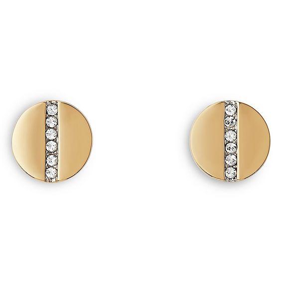 Holly Crystal Encrusted Gold Earrings