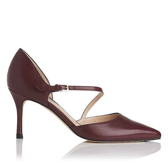 Alix Oxblood Leather Open Courts