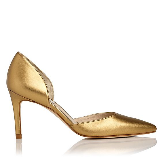 Flossie Bronze Leather Open Courts