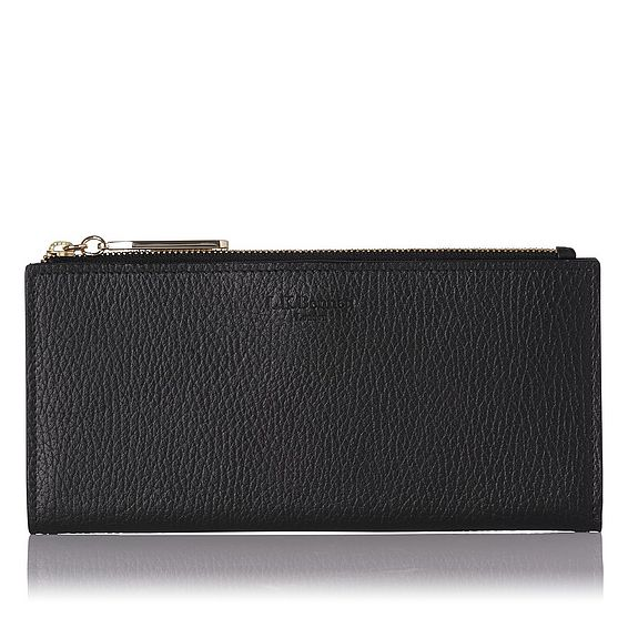 Kirstin Black Grained Leather Purse