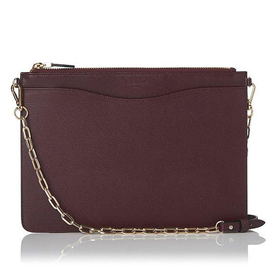 Rachel Oxblood Leather Cosmetic Bag