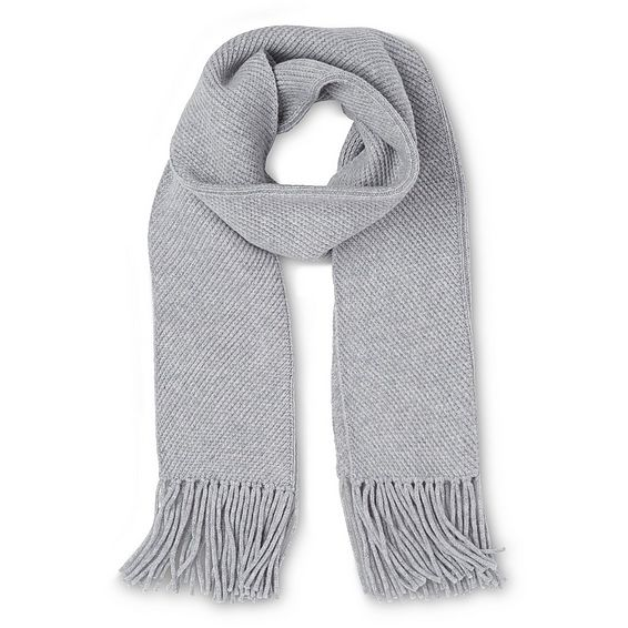 Allie Grey Wool Cashmere Scarves