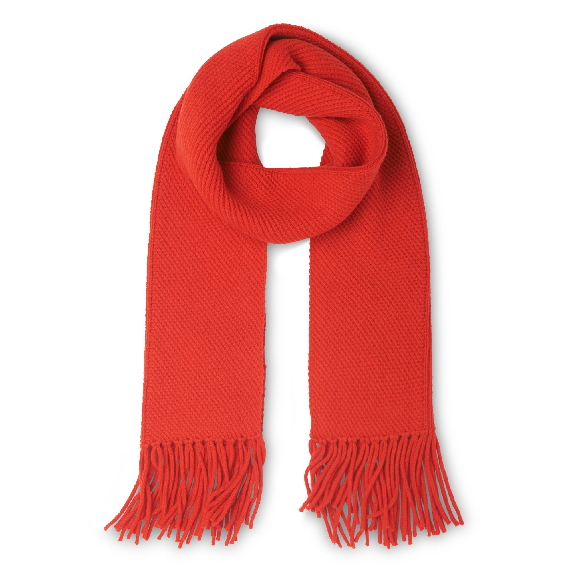 Allie Red Wool Cashmere Scarves