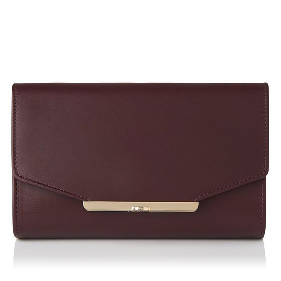Zadie Oxblood Leather Clutch