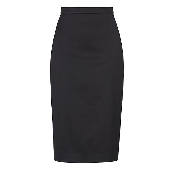 Miranda Black Sateen Skirt