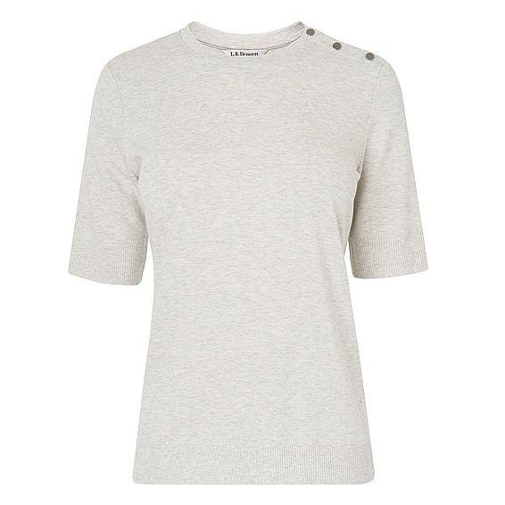 Andie Grey Cotton Top