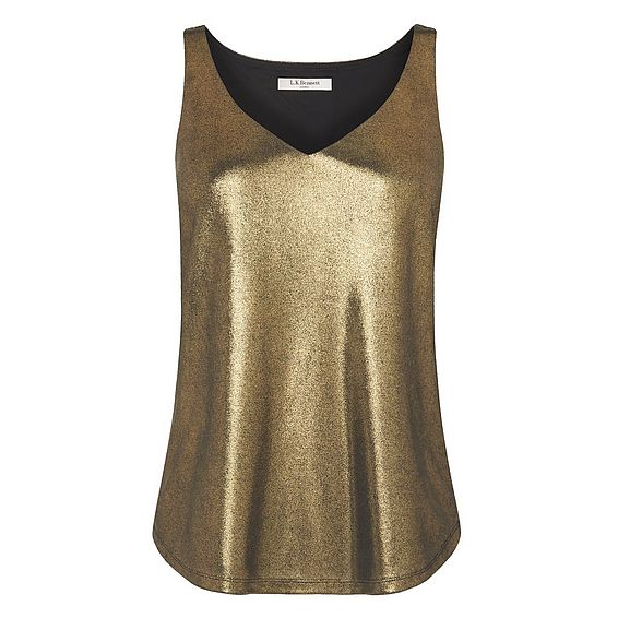Ginn Gold Jersey Top