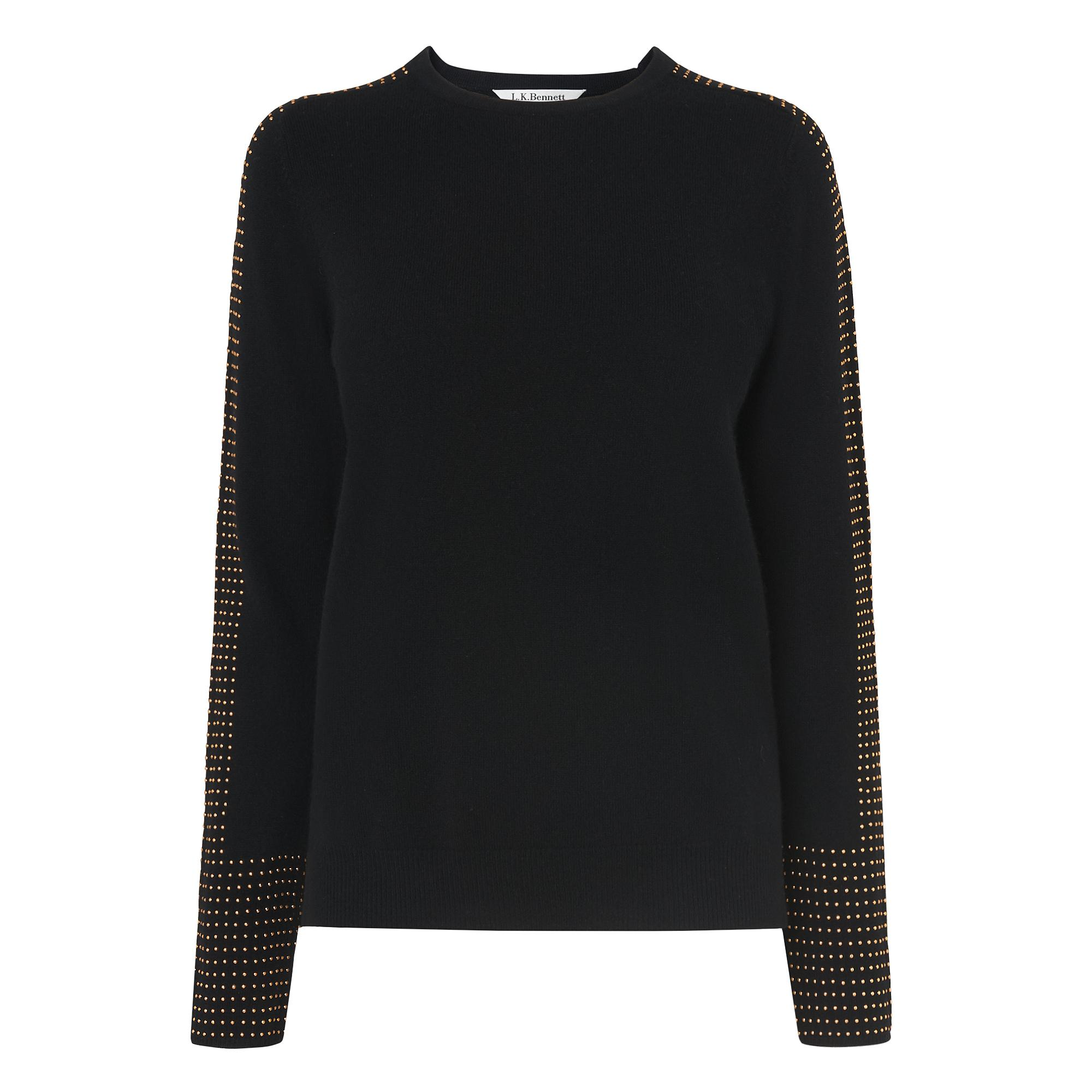 Adel Black Wool Cashmere Jumper