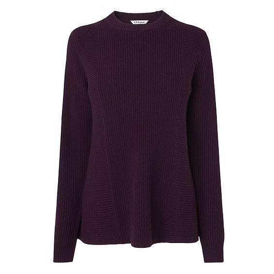 Alma Purple Wool  Cashmere Jumper