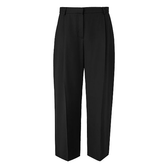 Elma Black Cropped Trousers