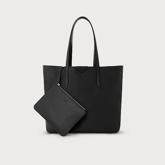 Peggy Black Italian Leather Tote Bag