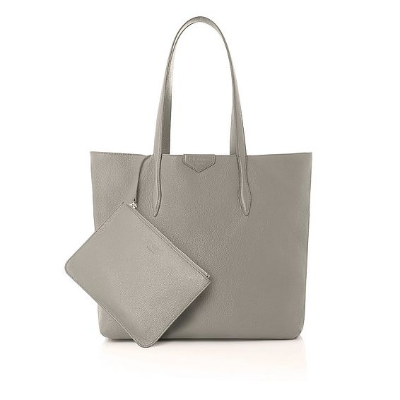 Peggy Taupe Italian Leather Tote Bag