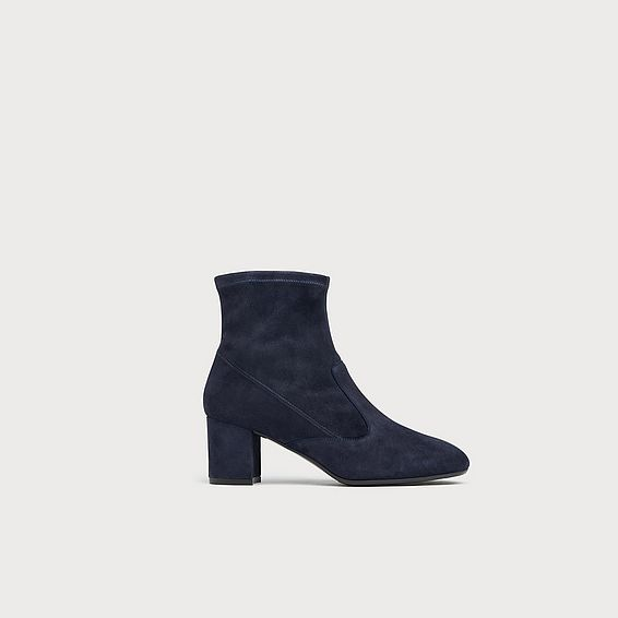 Alexis Navy Suede Ankle Boots