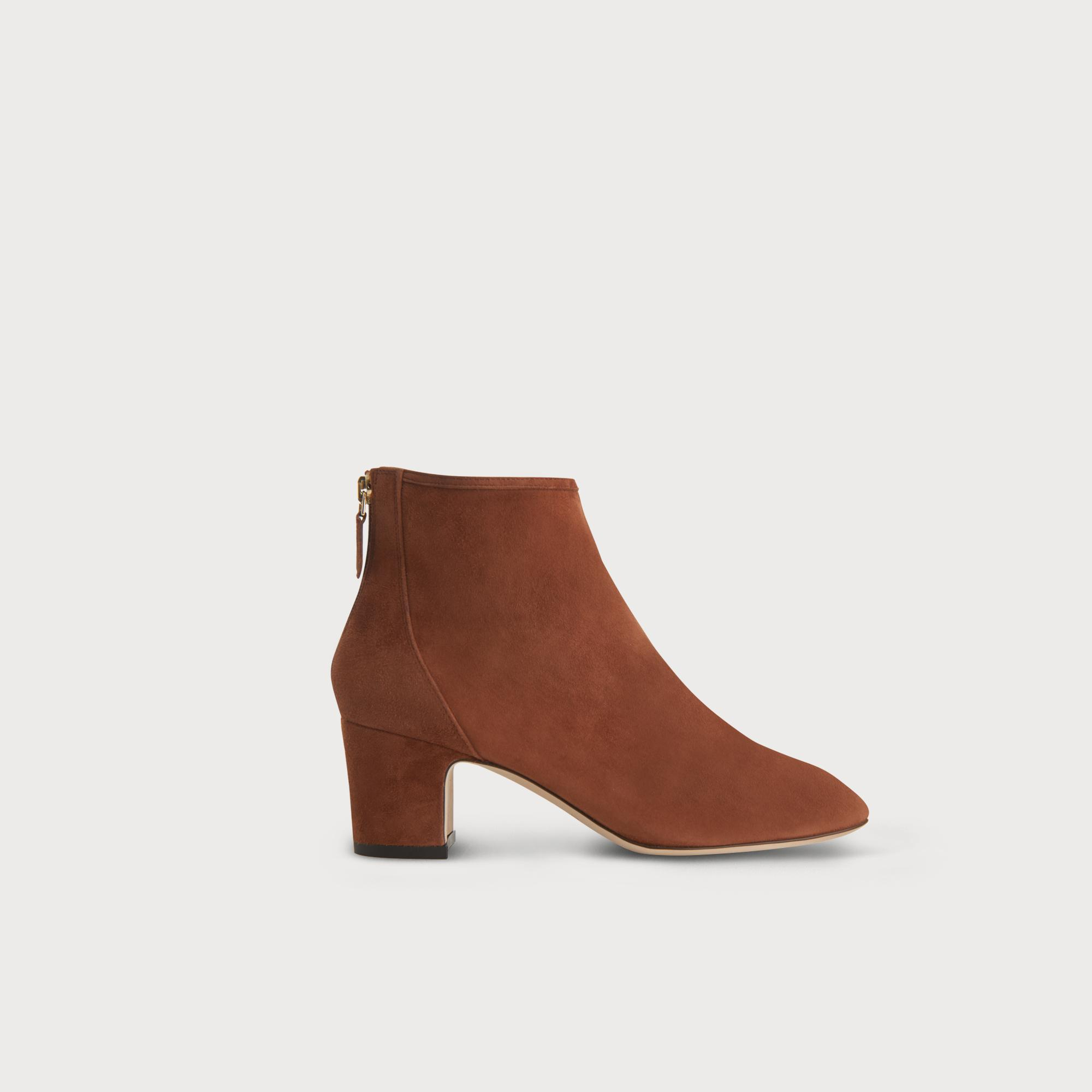 Alyss Brown Suede Ankle Boots