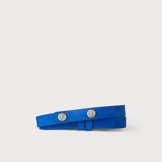 Zahara Blue Suede Belt
