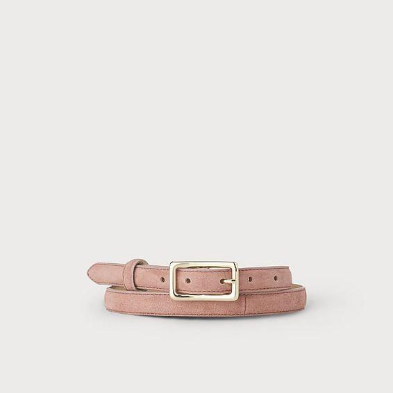 Glenda Pink Suede Belt