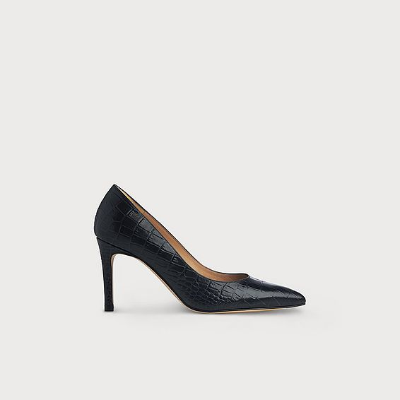 Floret Navy Croc Effect Courts