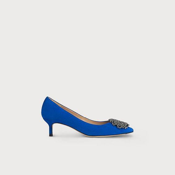 Gretchen Blue Suede Courts
