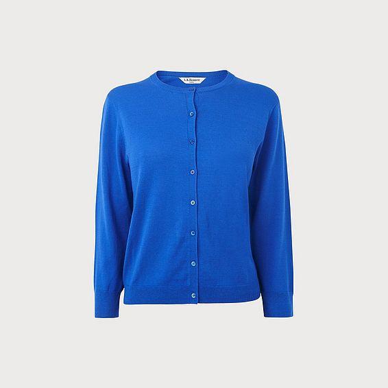 Bibia Blue Silk Cotton Cardigan
