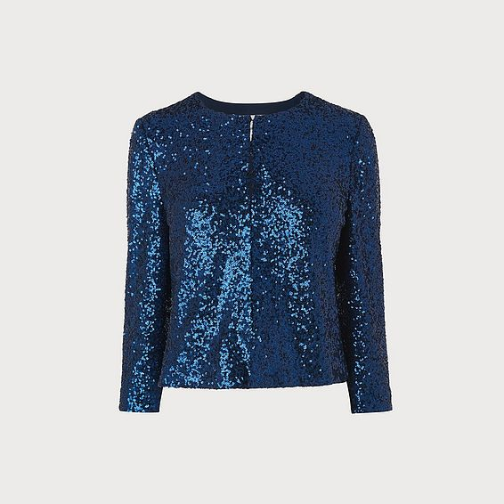 Roxy Blue Sequin Cardigan