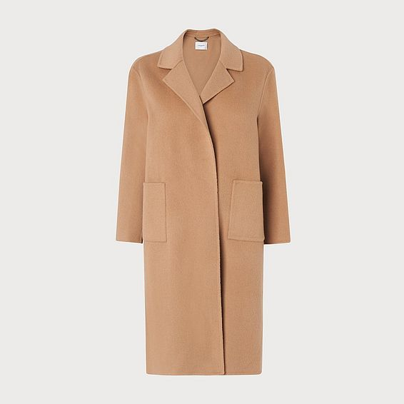 Becca Camel Wool Cashmere Coat
