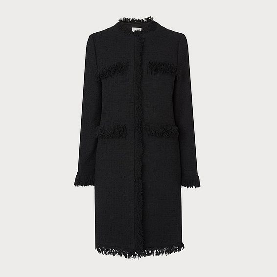 Myia Black Tweed Coat