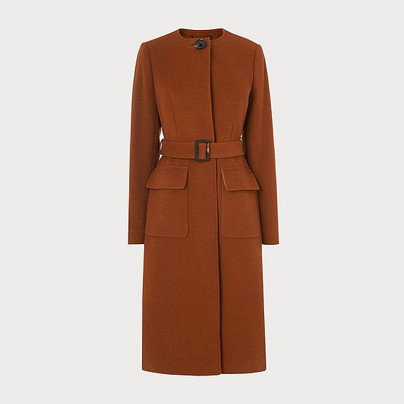 Odette Brown Wool Coat