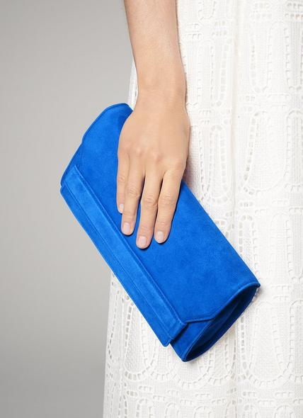 Ella Poolside Suede Clutch