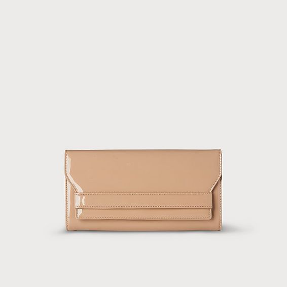 Ella Trench Patent Clutch Bag
