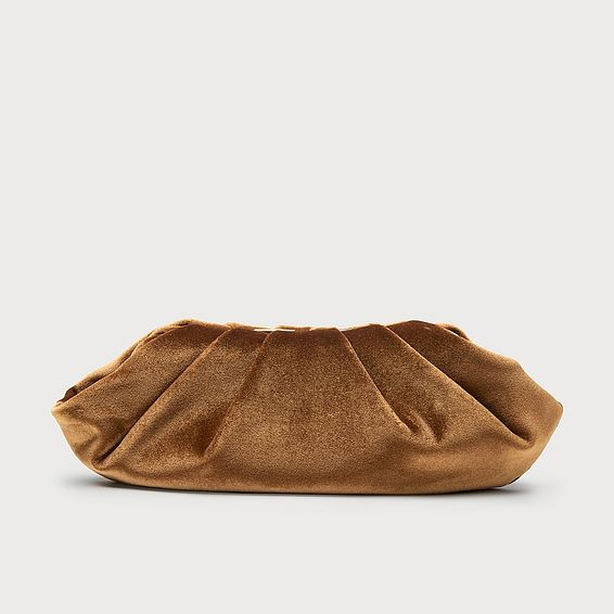 Felicity Bronze Velvet Clutch Bag