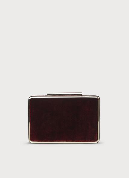 Nina Wine Velvet Clutch Bag