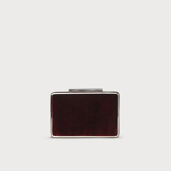 Nina Wine Velvet Clutch Bag