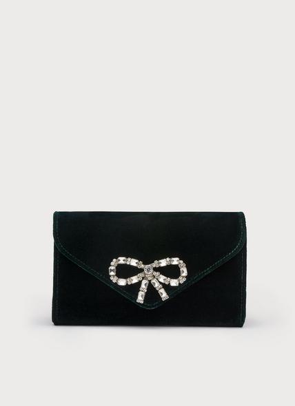 Sissi Green Velvet Clutch