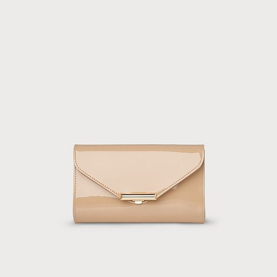 Sissi Trench Patent Clutch Bag