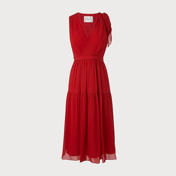 Abigail Red Silk Dress