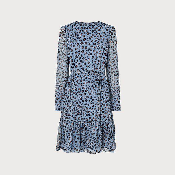 Dakota Blue Leopard Print Dress