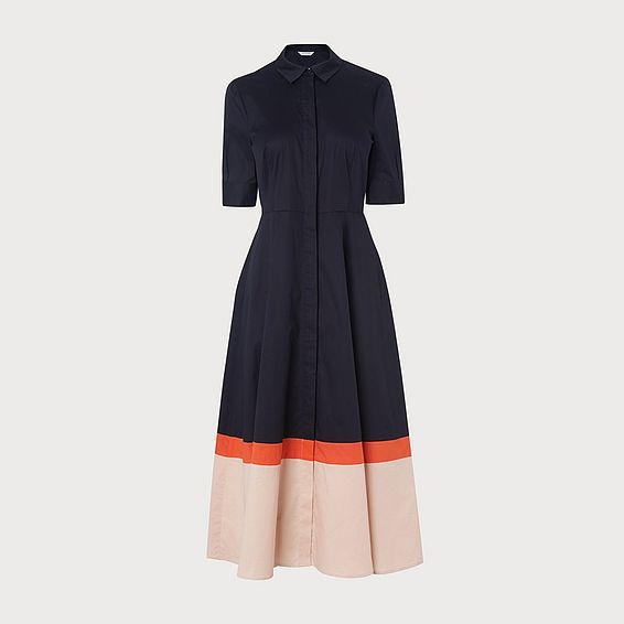 Emilie Navy Cotton Dress