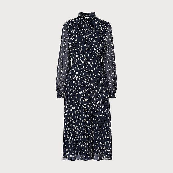 Filia Navy Silk Dress