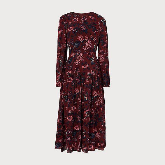 Julisa Red Silk Dress