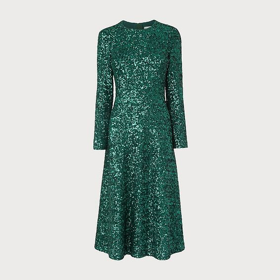 Lazia Green Sequin Dress