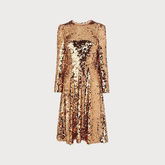 Laz Gold Sequin Dress