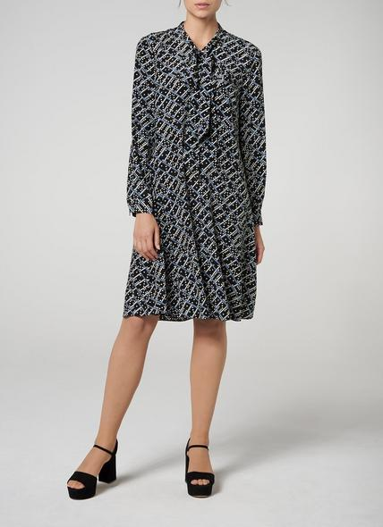 Lotte Black Silk Dress
