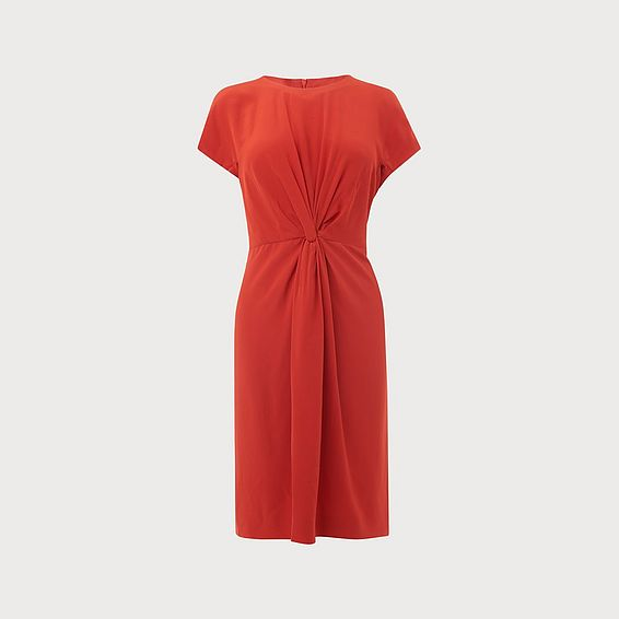 Milas Poppy Silk Dress