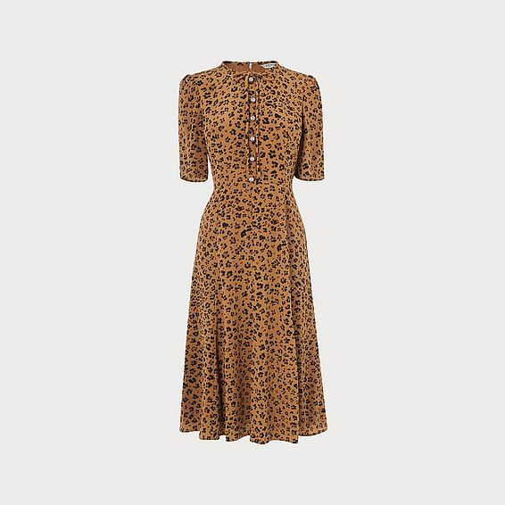 Montana Leopard Print Silk Dress