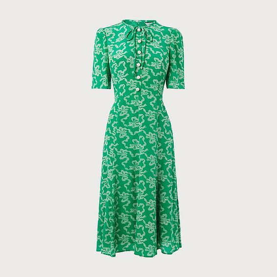 Montana Green Silk Dress