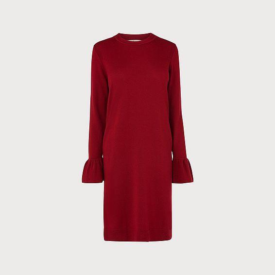 Pierina Wine Merino Dress