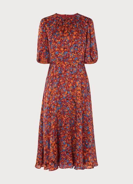 Souli Rust Silk Dress