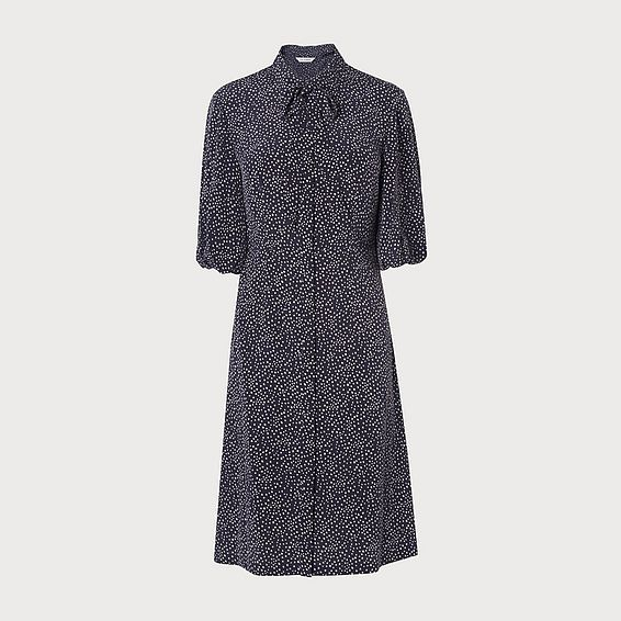 Tillila Navy Silk Dress